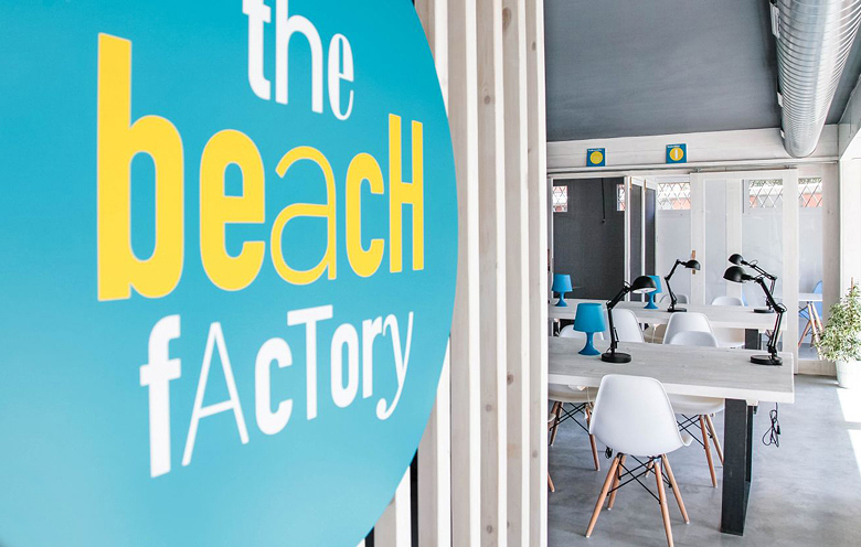 Identidad corporativa, The Beach Factory, Coworking, Castelldefels